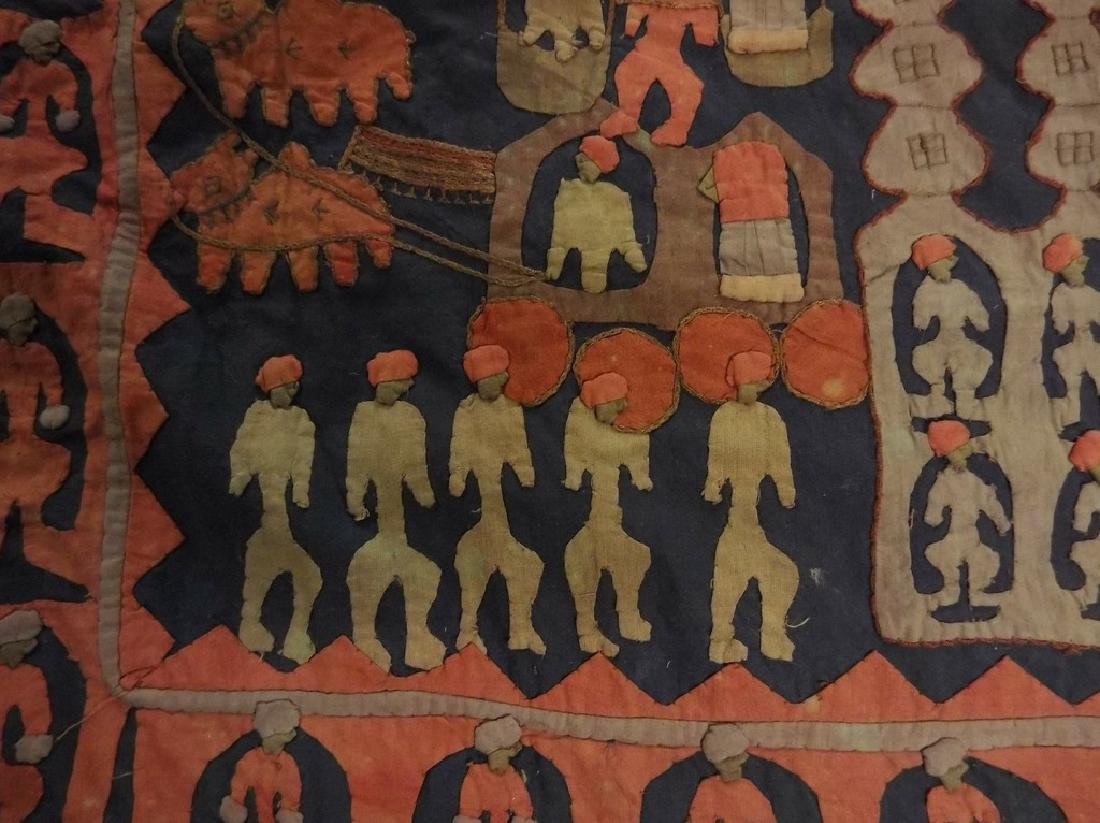 Large Vintage/Antique Indian Applique Kanduri Shrine - 4