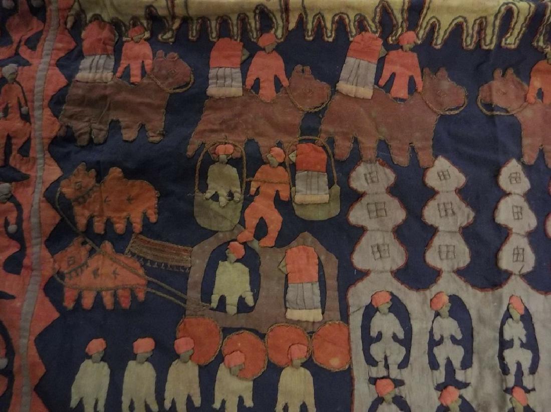 Large Vintage/Antique Indian Applique Kanduri Shrine - 5