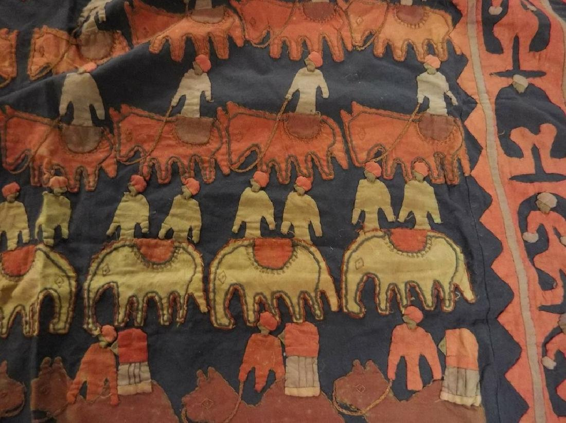 Large Vintage/Antique Indian Applique Kanduri Shrine - 6