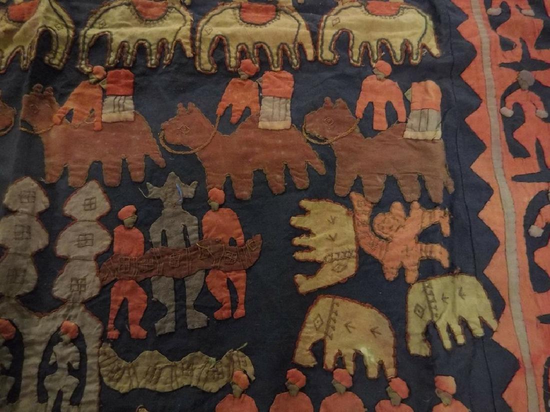 Large Vintage/Antique Indian Applique Kanduri Shrine - 7