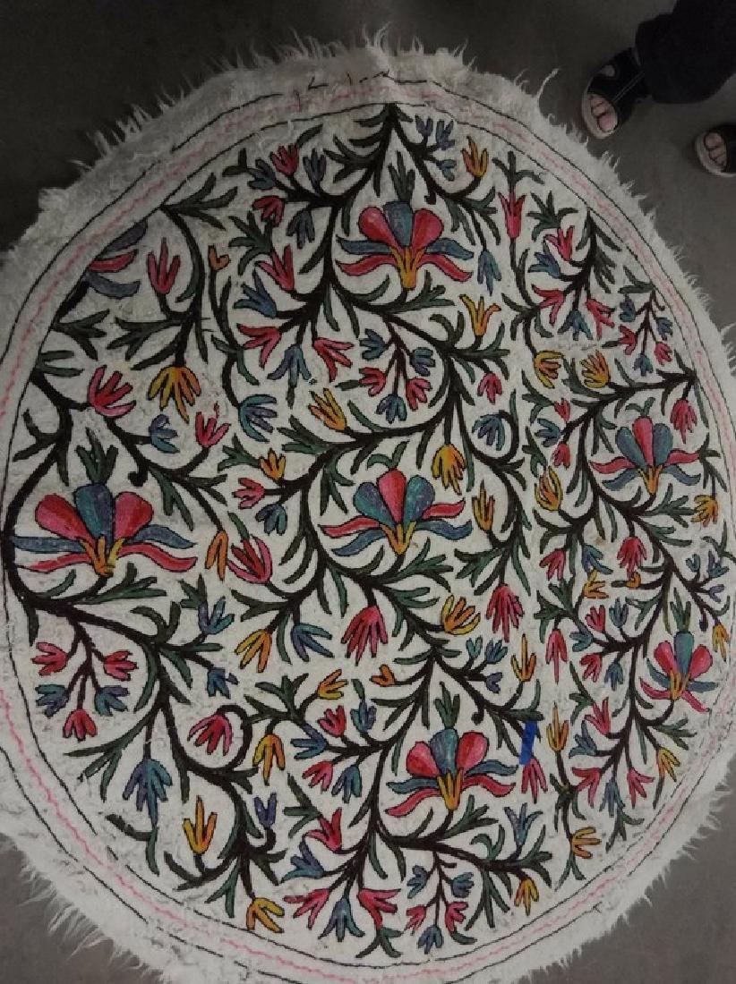 Turkish Hand Embroidered Round 63 inch Rug