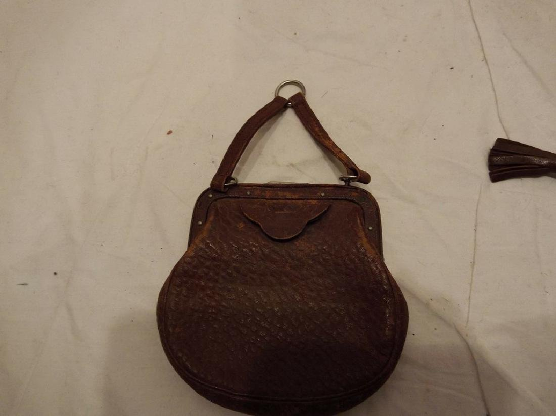 lot of Early Leather Purses/Hand Bags/Pocket Books - 7