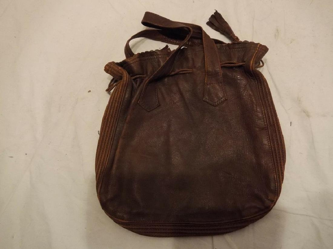 lot of Early Leather Purses/Hand Bags/Pocket Books - 9