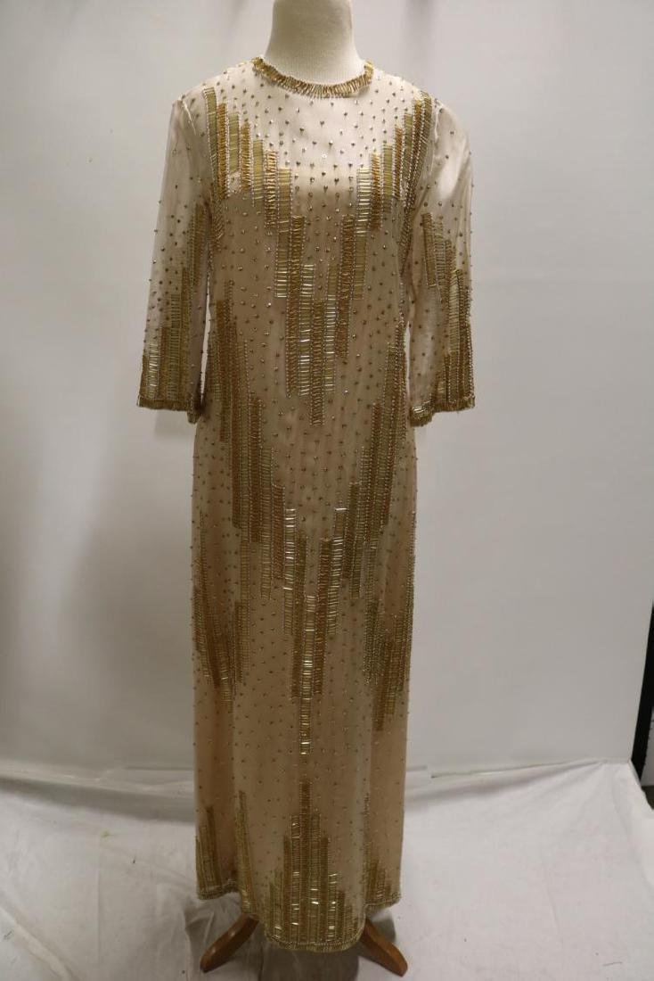 Vintage Dynasty Beaded & Sequin Gown/Maxi Dress, all