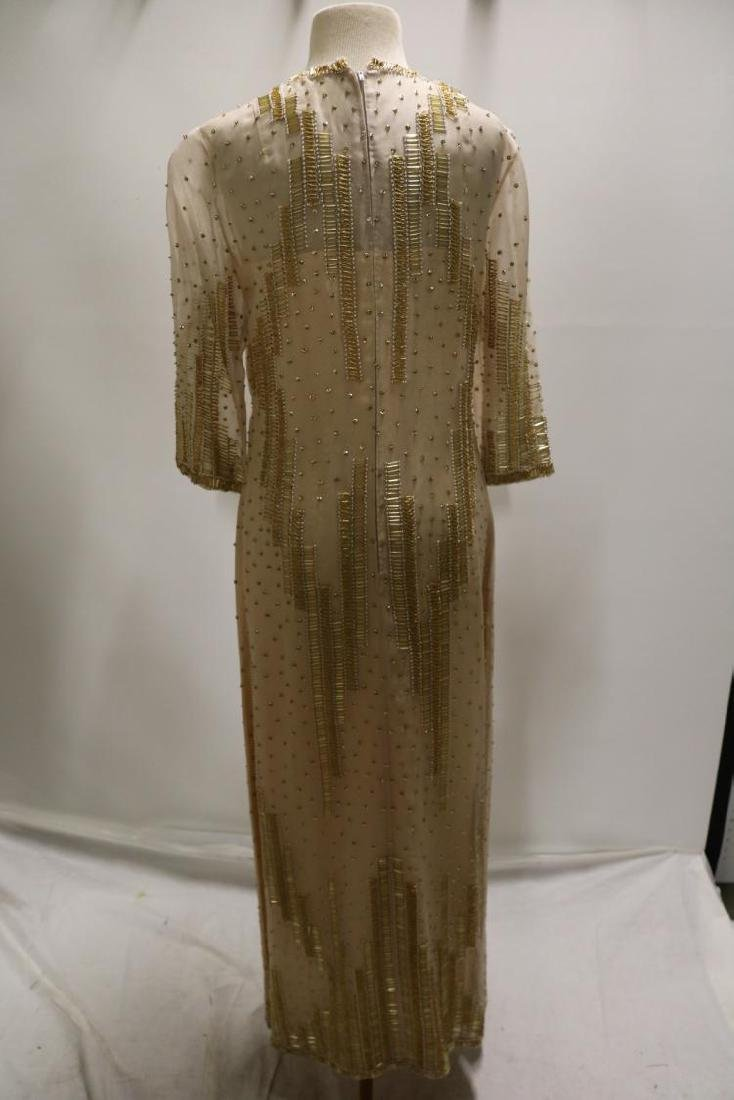 Vintage Dynasty Beaded & Sequin Gown/Maxi Dress, all - 4