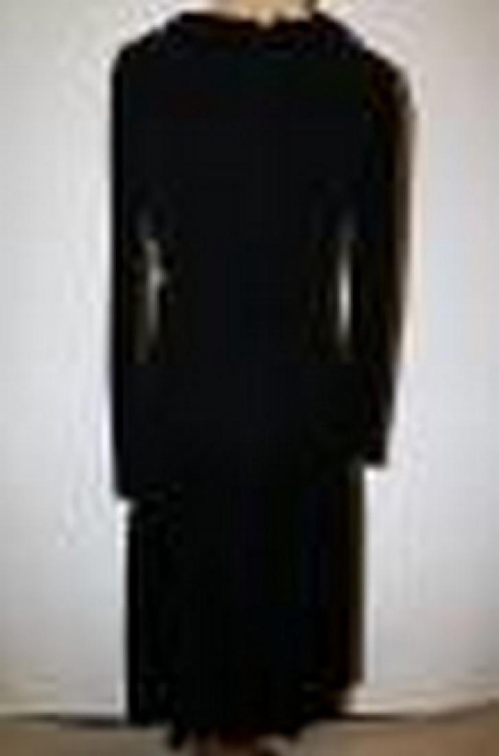 1960/70's Black Polyester long sleeve Dress - 3