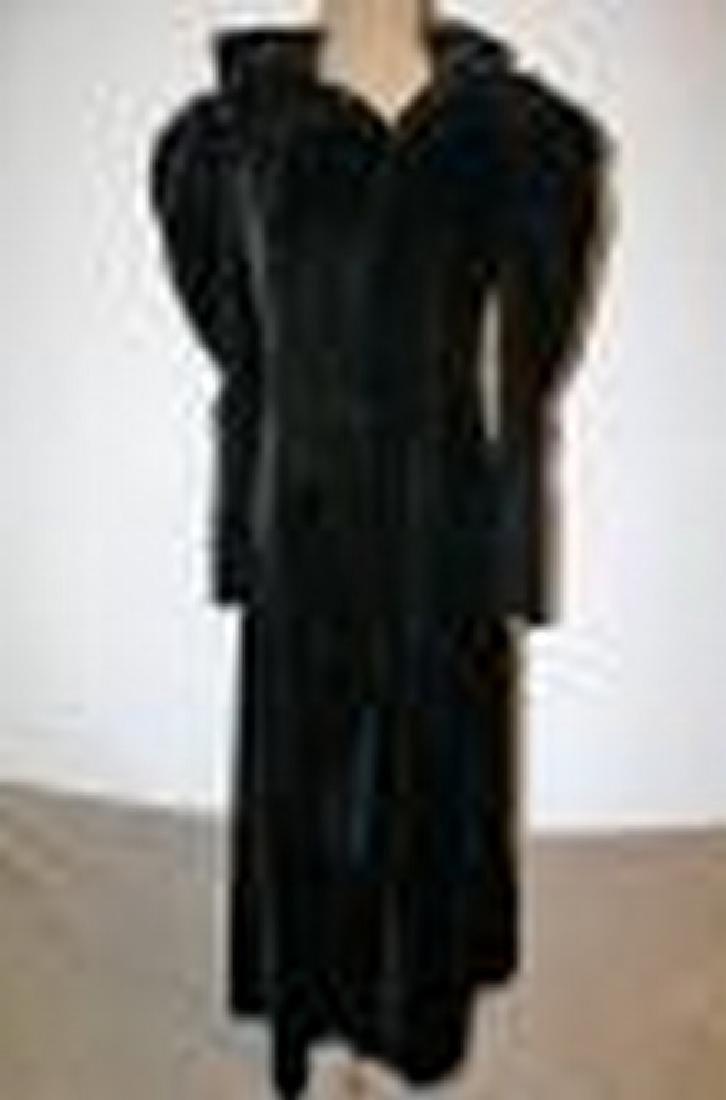 Antique Victorian Black Velvet Woman's Opera Coat with