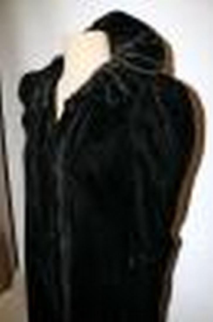 Antique Victorian Black Velvet Woman's Opera Coat with - 5