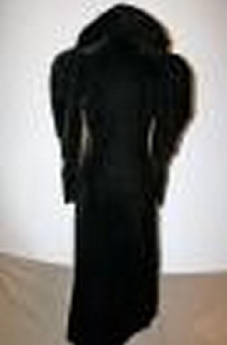 Antique Victorian Black Velvet Woman's Opera Coat with - 6