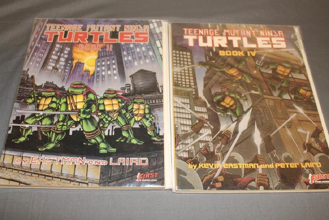 TMNT #2 & 4, graphic novel 1st print