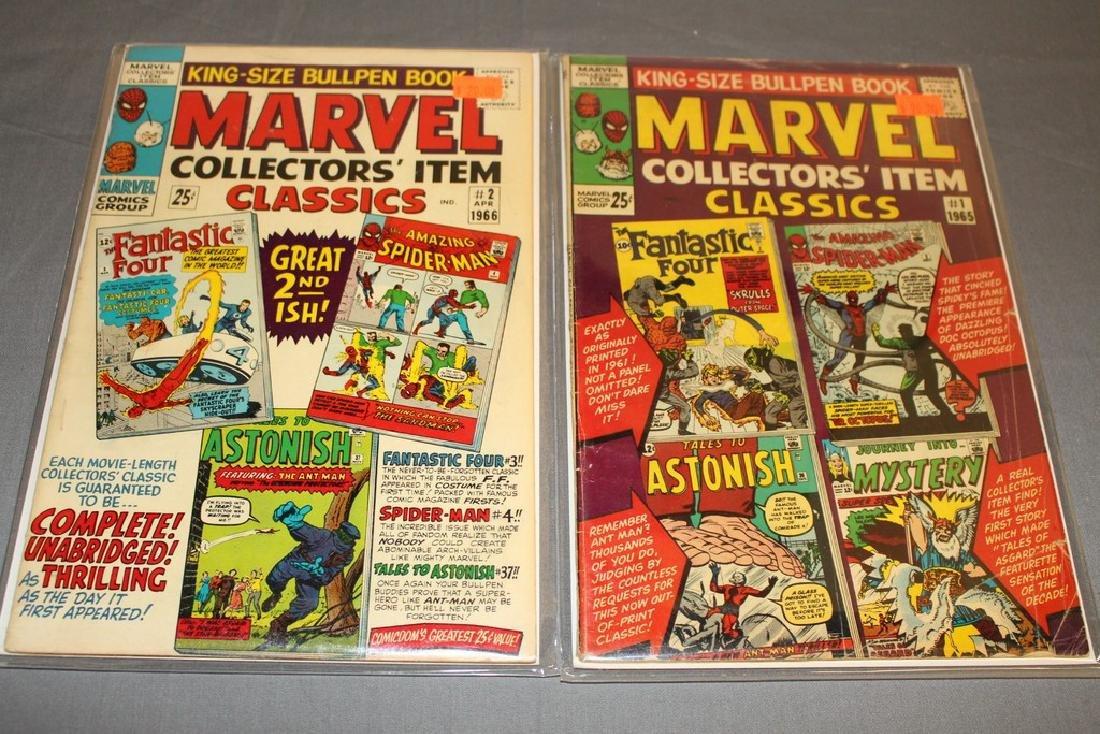 1965 Marvel silver collectors classic #1 & 2