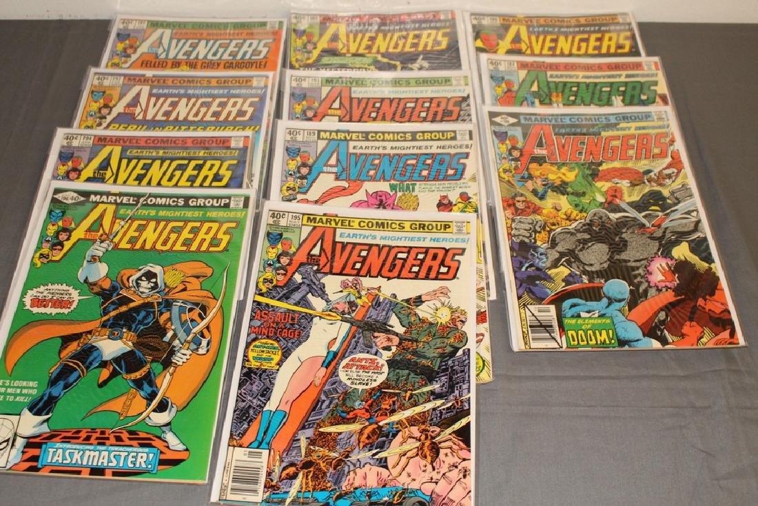 11 Avengers comics #185-196