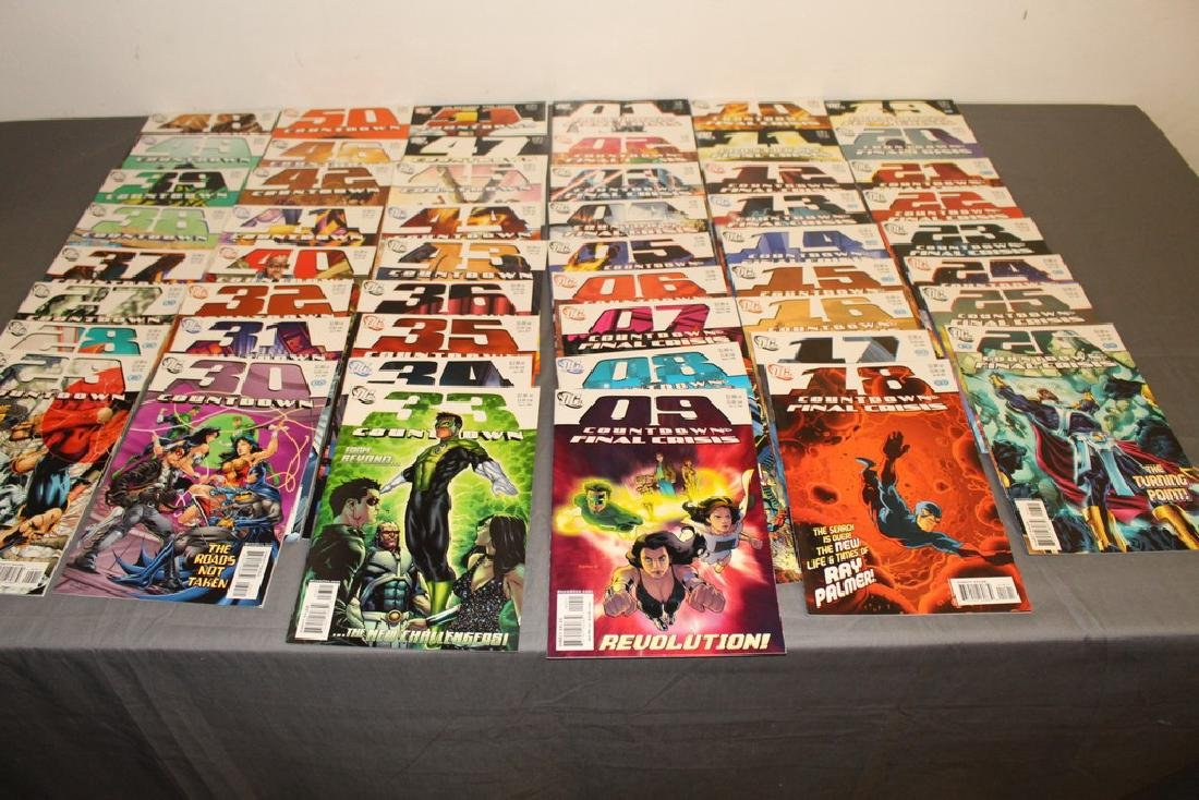 Count Down to Final Crises #1-51 DC complete mint set