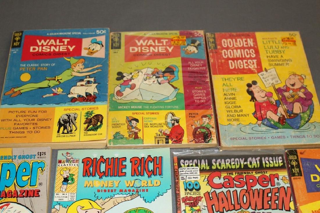 lot of 7 comic Digests, Disney, Richie Rich, Casper & - 2