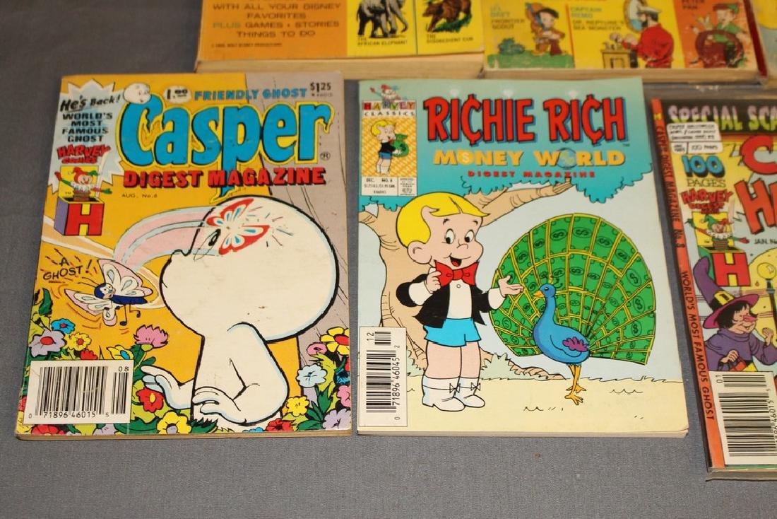 lot of 7 comic Digests, Disney, Richie Rich, Casper & - 3