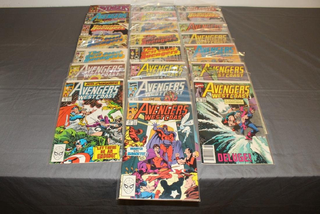 22 comics, Variety of Avengers & West Coast