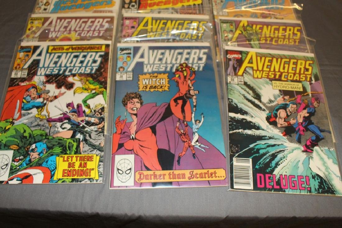 22 comics, Variety of Avengers & West Coast - 2