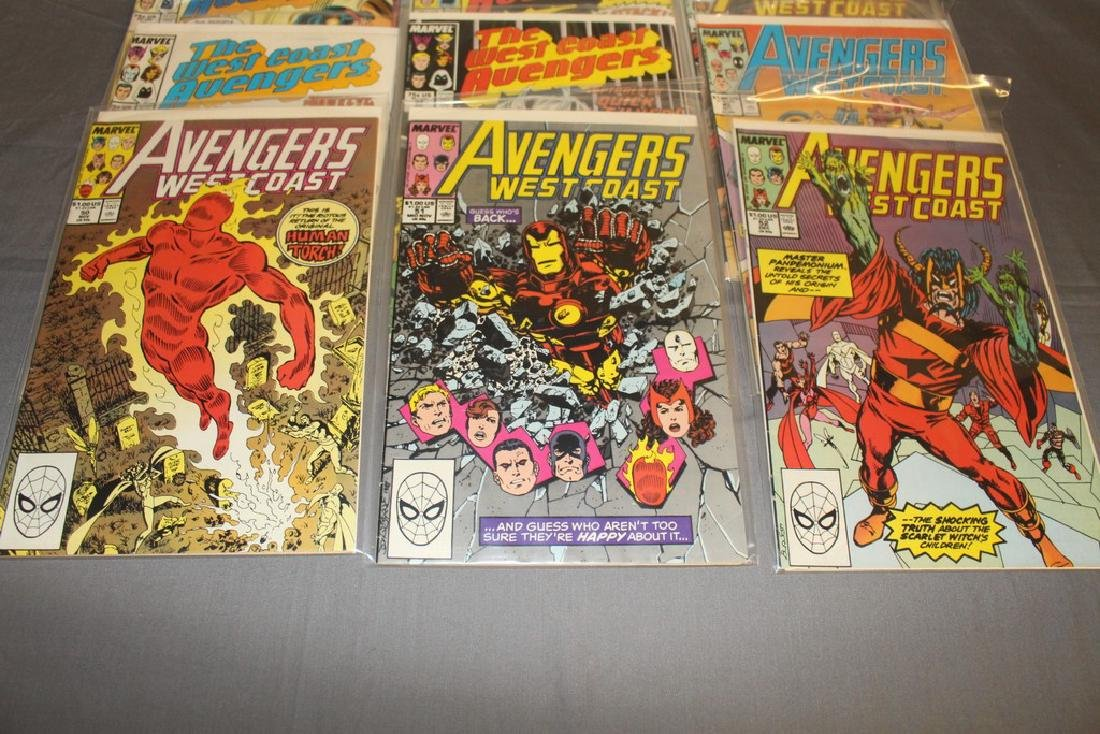 22 comics, Variety of Avengers & West Coast - 3
