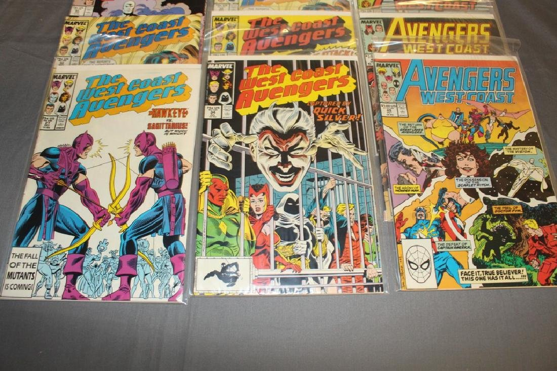 22 comics, Variety of Avengers & West Coast - 4