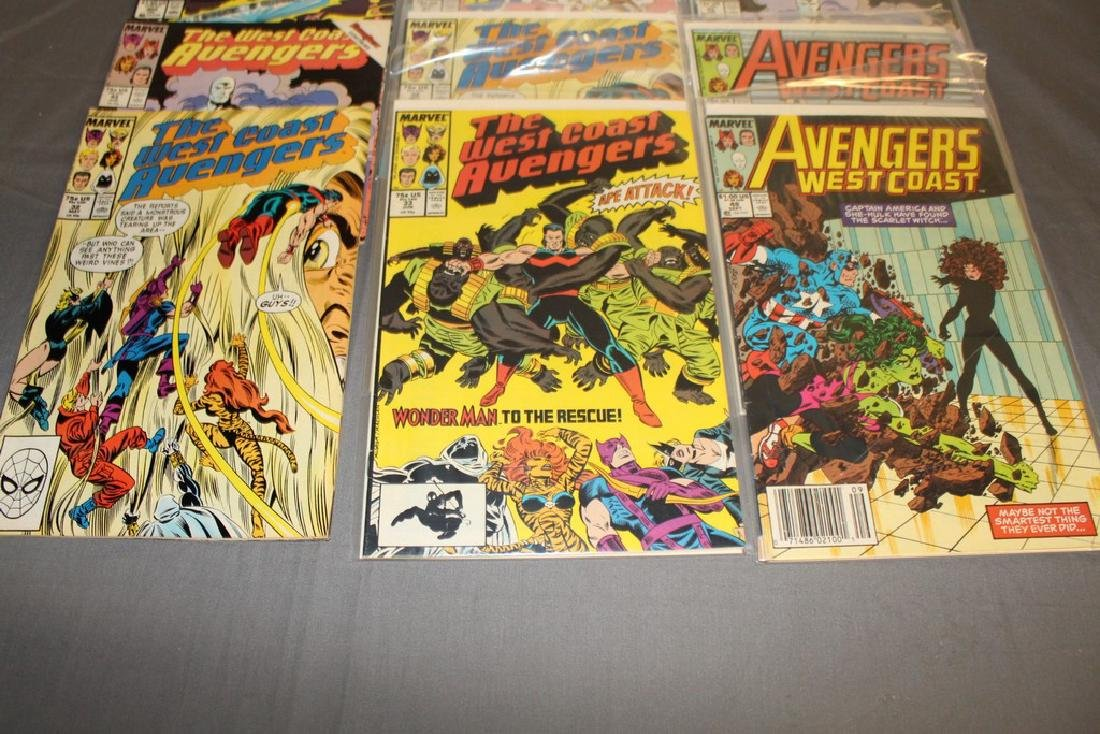 22 comics, Variety of Avengers & West Coast - 5
