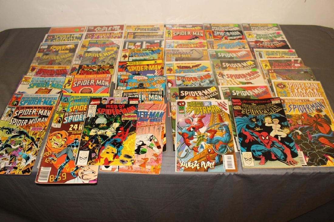 48 Spiderman Comics, nice variety