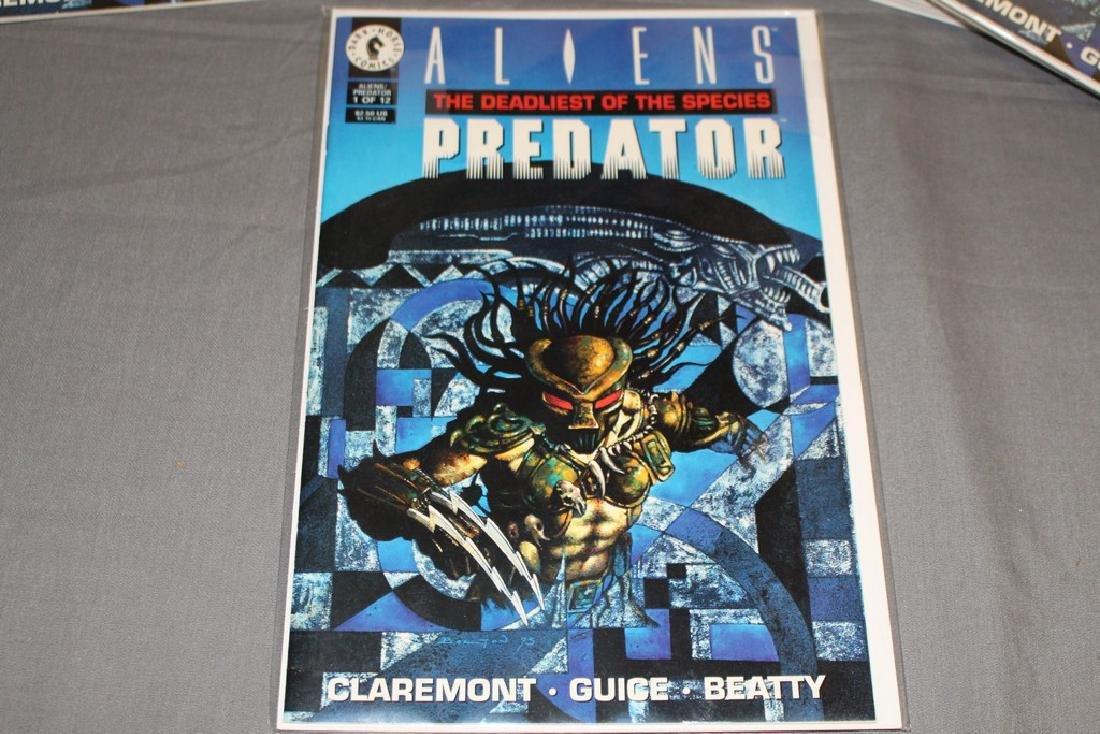 12 mint comics Aliens-Predator Deadliest of Species #1 - 2
