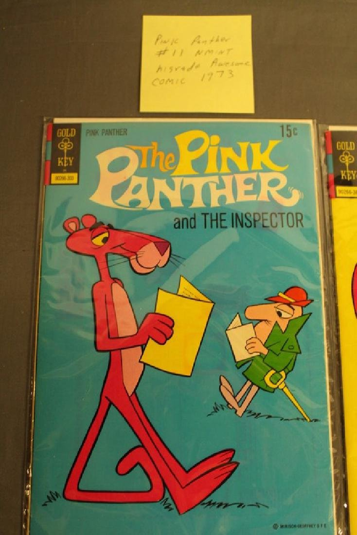 7 mint Pink Panther comics, 1970's - 2