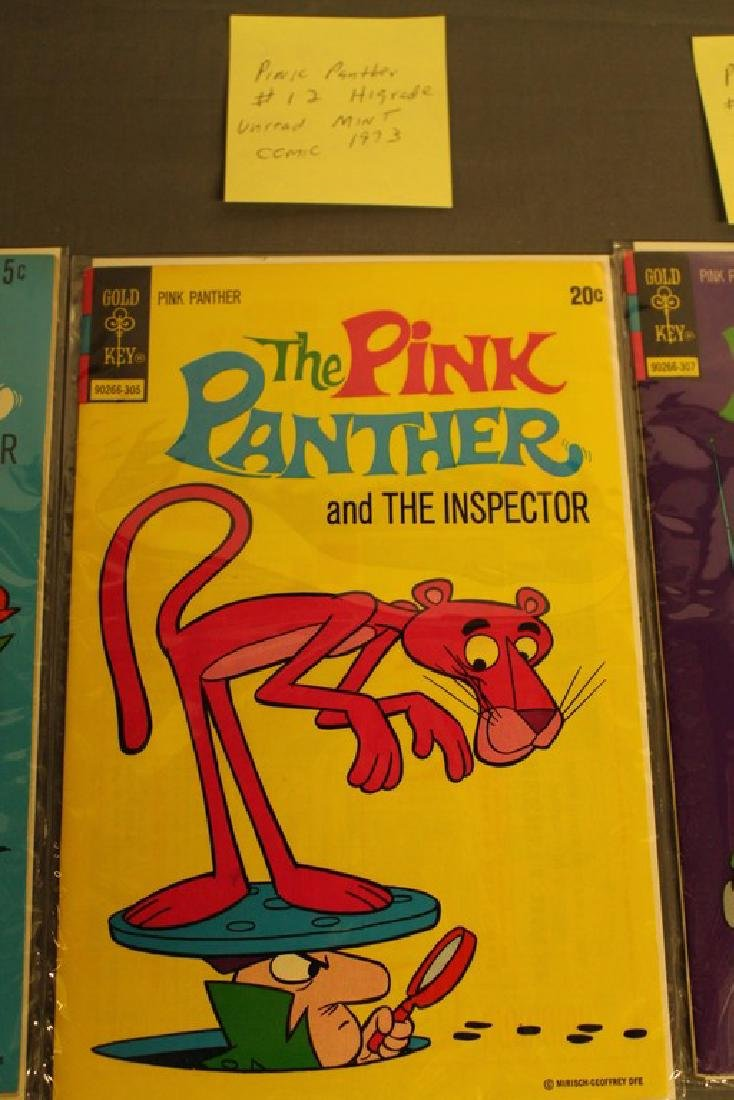 7 mint Pink Panther comics, 1970's - 3
