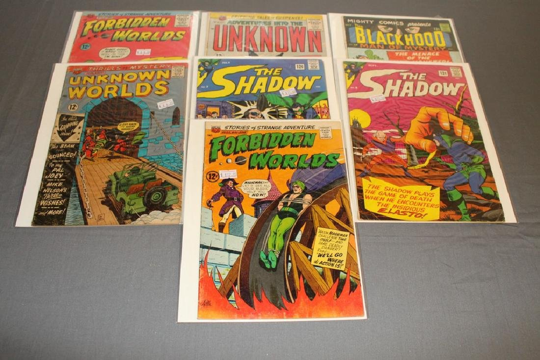 7 Silverage comics Adv. Into Unknown & others