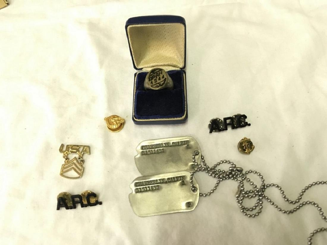 Lot of military pins and accessories