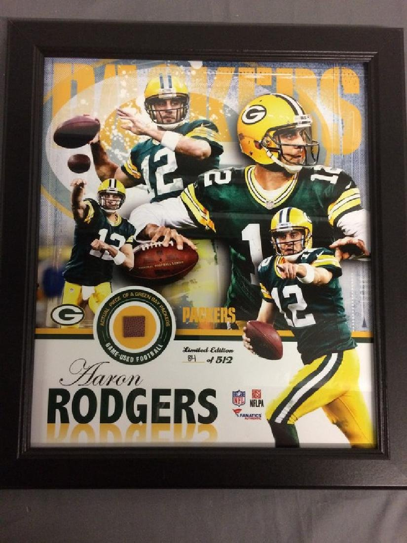 Aaron Rodgers Green bay Packers piece game used