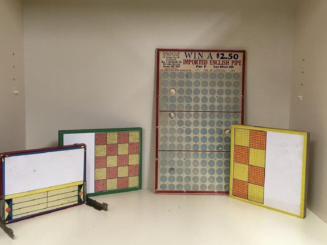Collection of punch out prize boards