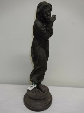 French style casting of a woman holding a bundle