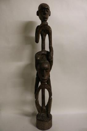 Hand Carved Wood African Statue
