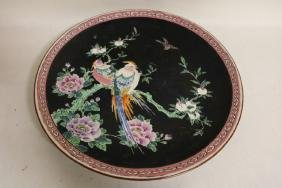 Large Asian Porcelain Charger with Birds
