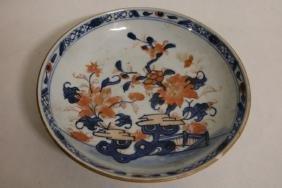Shallow Asian Bowl, floral Motif