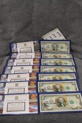 Lot of seven National park $2 bills