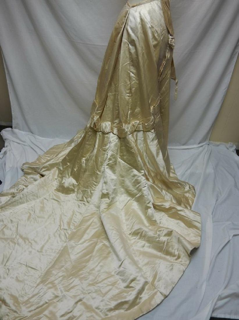 Victorian 2 pc Wedding Dress in Satin & Lace