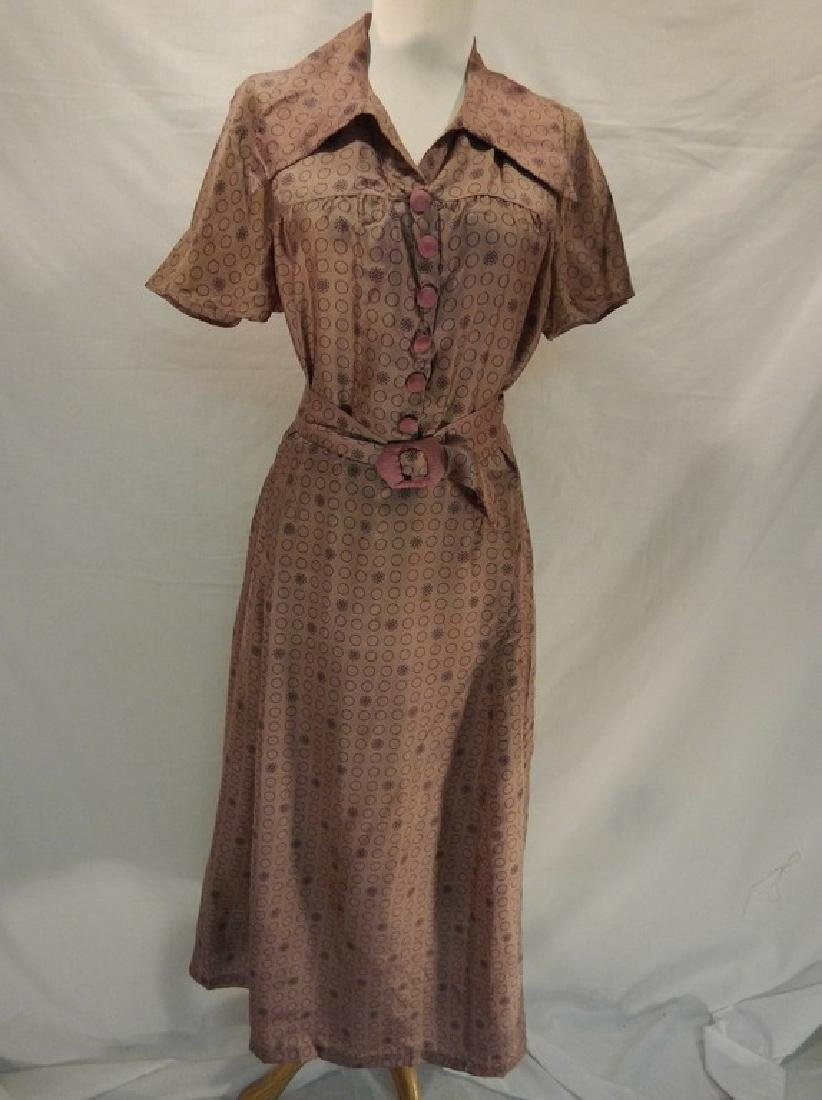 1920's Ladies Vintage light Purple Silk Dress