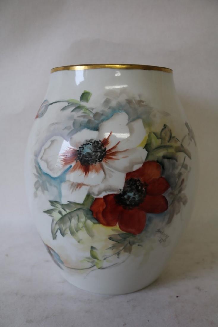 Large T&V Limoges Vase, Artist Signed & Dated 1926