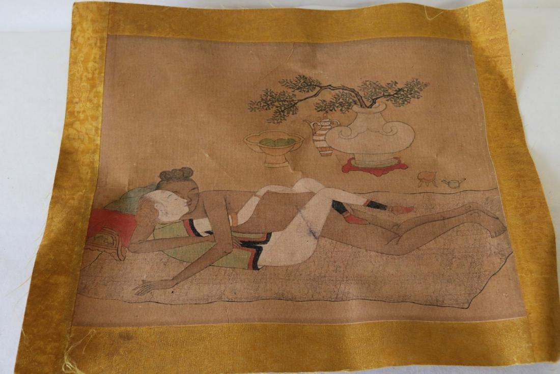 Chinese Erotica Painting on Fabric