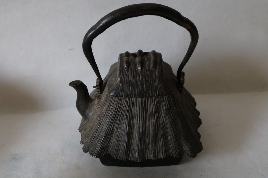 Cast Iron Chinese Tea Pot, Signed