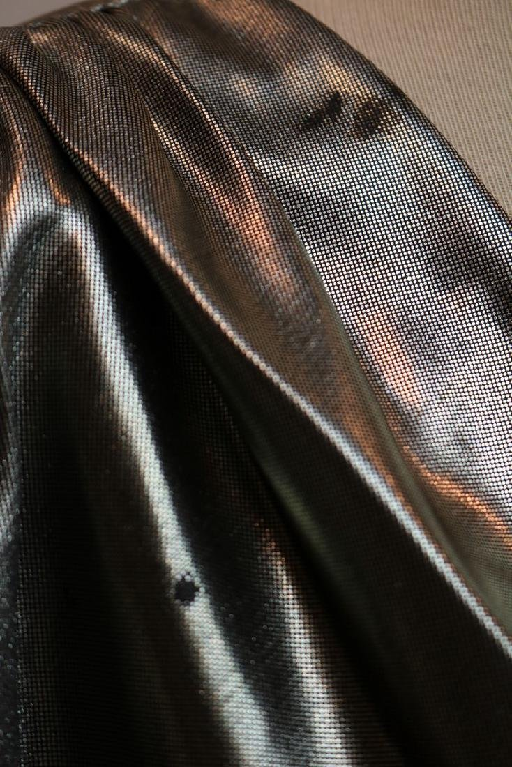 1980's Silver Metallic Wrap Dress by Night Moves - 3