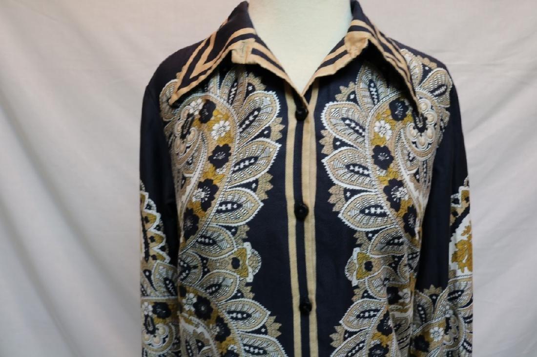 1960's Silk Paisley Vera Blouse - 2