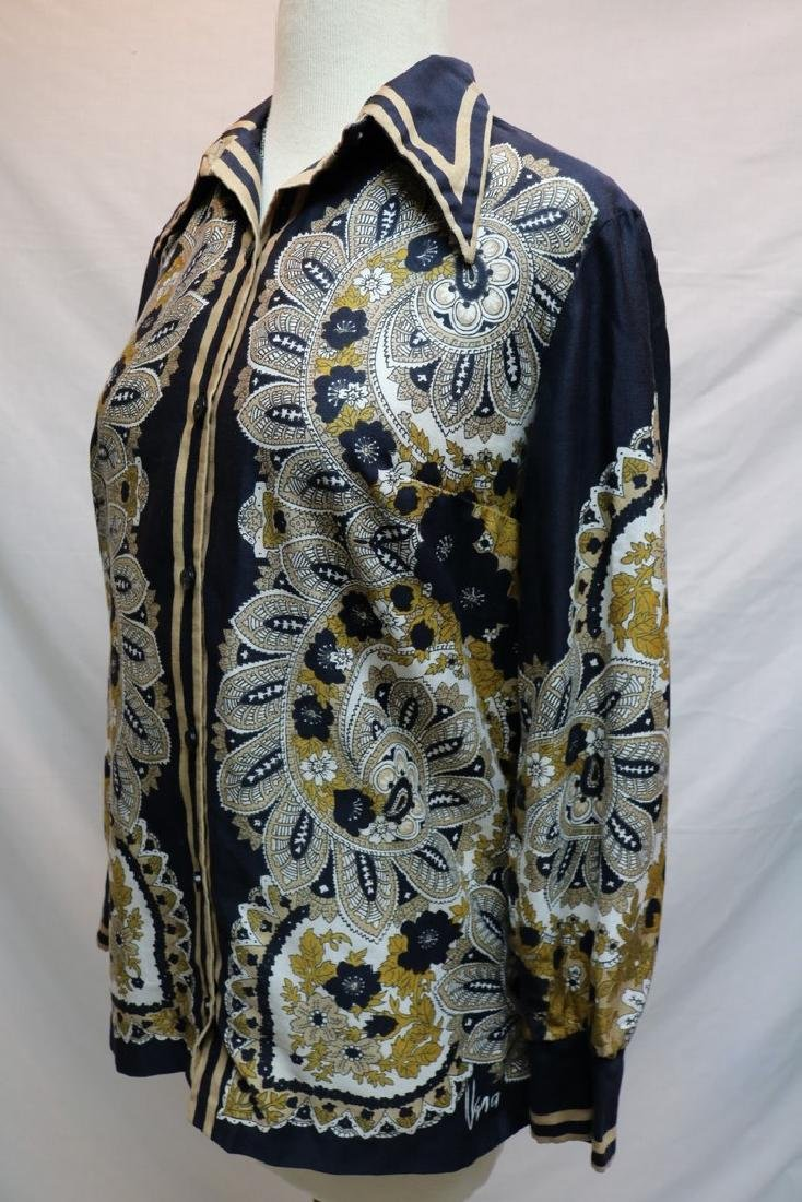 1960's Silk Paisley Vera Blouse - 3