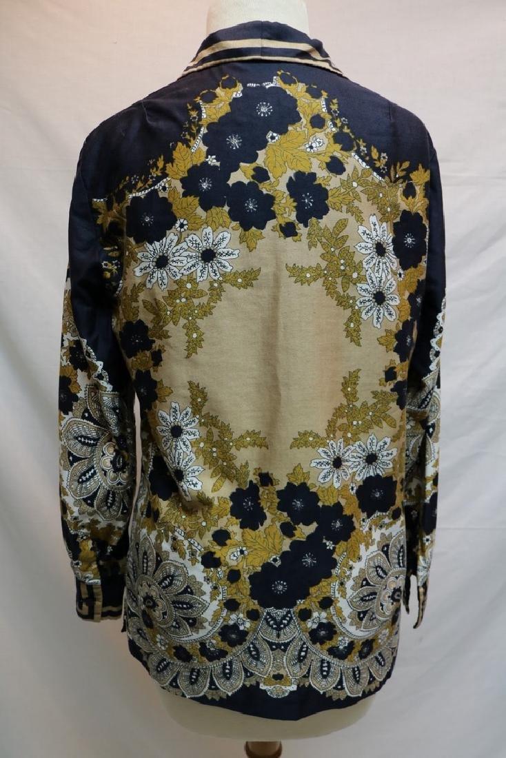 1960's Silk Paisley Vera Blouse - 4