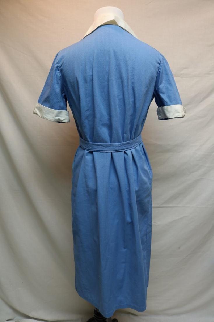 1960's Blue Cotton Day Dress - 5