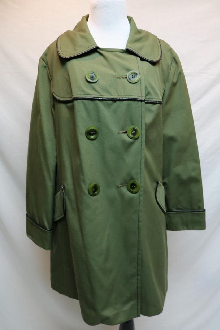 1970's Olive Green Swing Coat by Sears Fashions