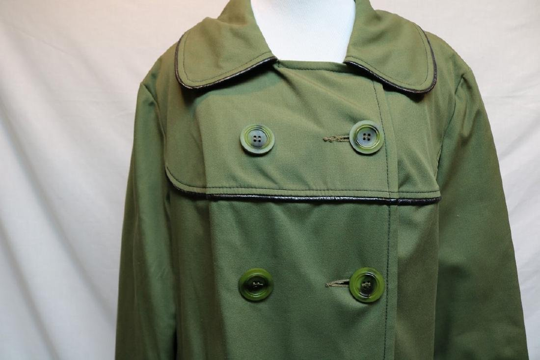 1970's Olive Green Swing Coat by Sears Fashions - 2