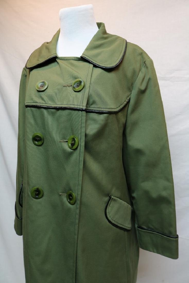 1970's Olive Green Swing Coat by Sears Fashions - 3